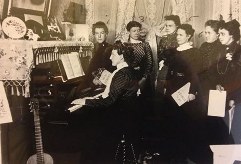the ladies guild of st john the baptist episcopal church, circa late 1890's