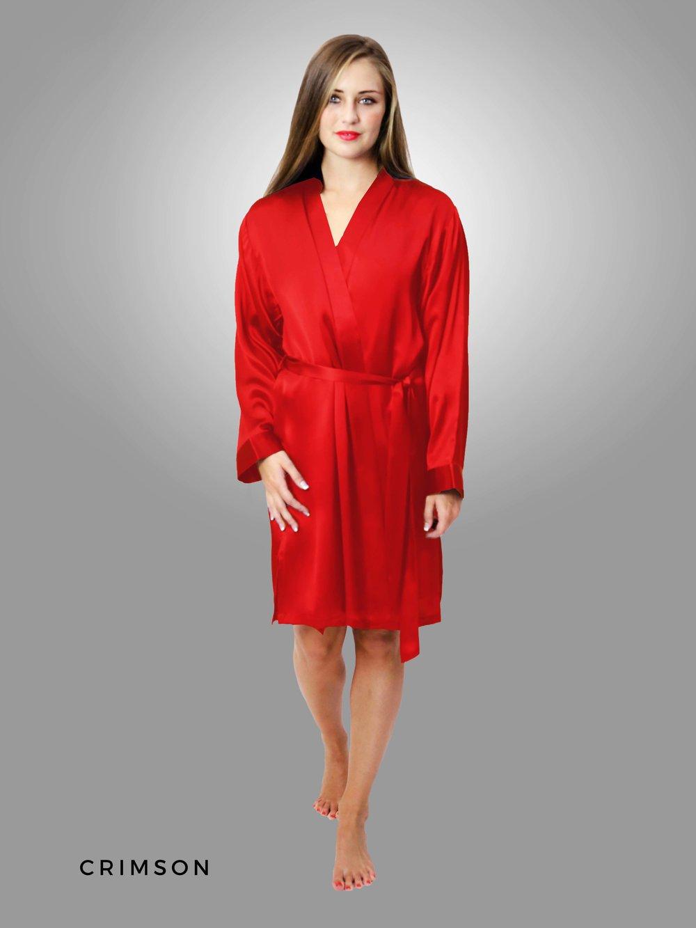 9ad72ed237f CLASSIC KIMONO Short Robe — Linda Hartman Intimates