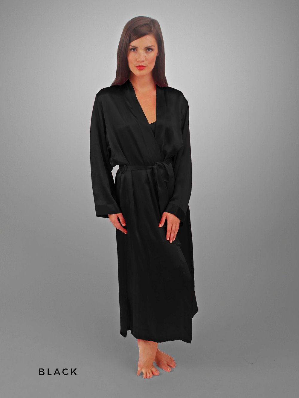 4d3c80b387a CLASSIC KIMONO Long Robe — Linda Hartman Intimates