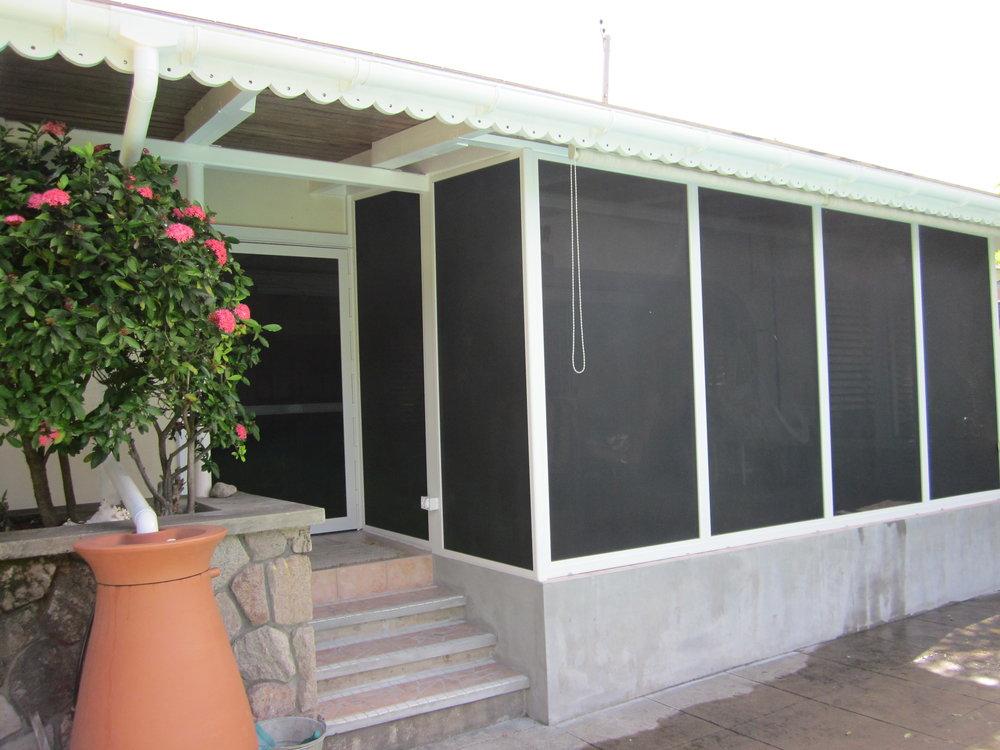 Secure a screened in porch