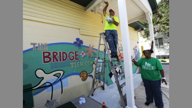 In 2014 The Bridge of Northeast Florida gets a facelift at its facility on North Pearl Street in Jacksonville.