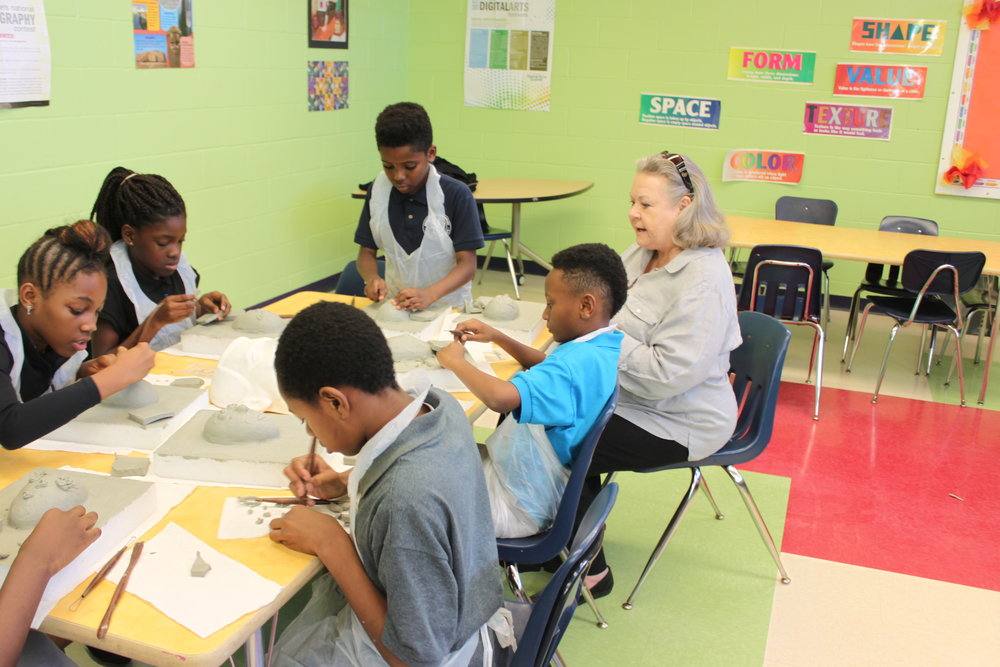 2017: Mrs. Insetta's Art Class at NFL YET Boys & Girls Club