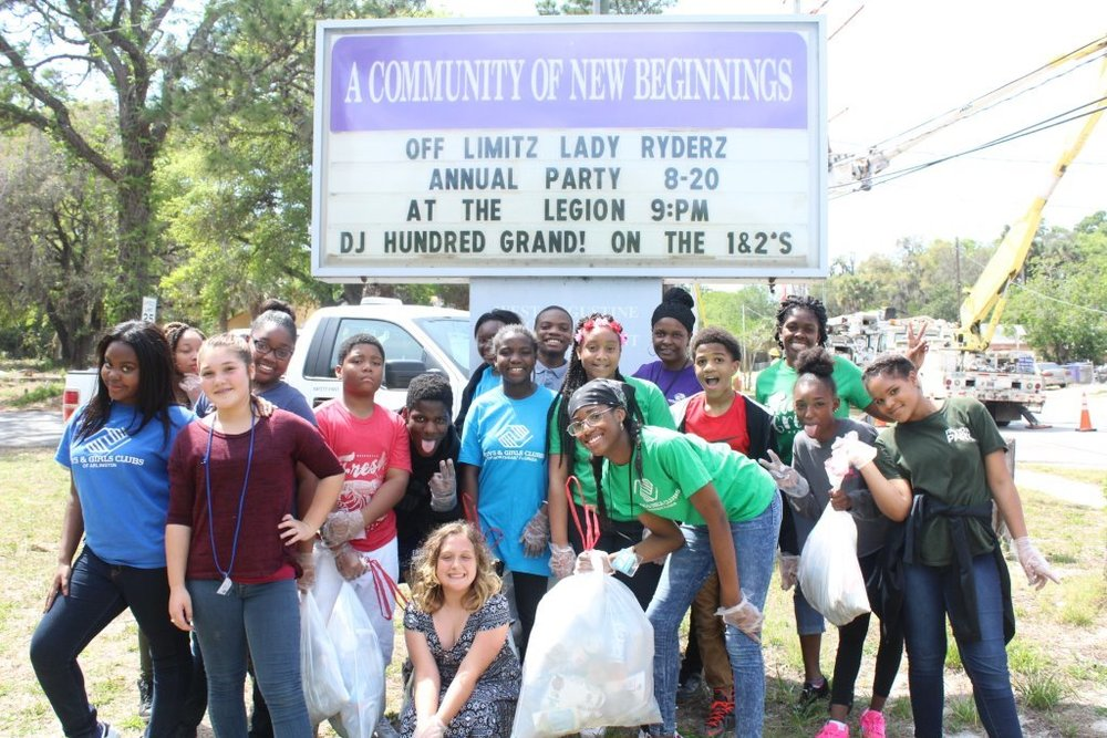 "2017: THE PLAYERS Championship Boys & Girls Club participated in the ""Keep St. Augustine Clean"" initiative."