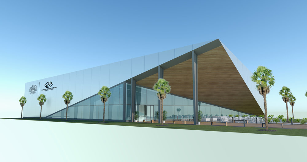 Artist rendering of JU Boys & Girls Clubs Teen Center in Arlington.