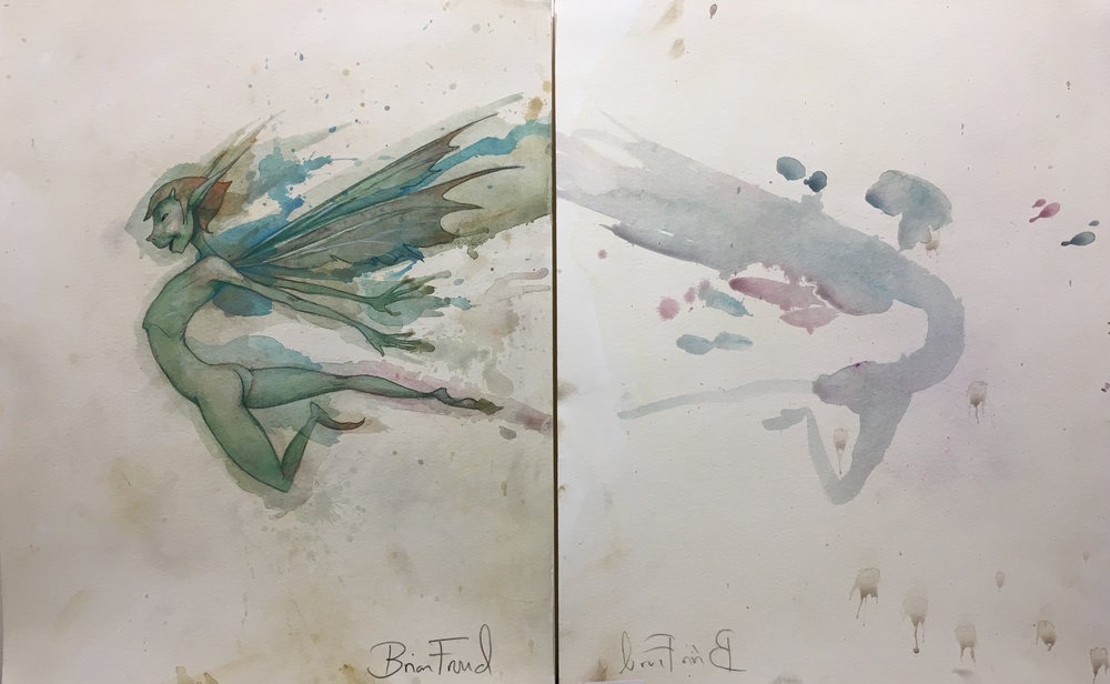 Pressed Faerie Diptych