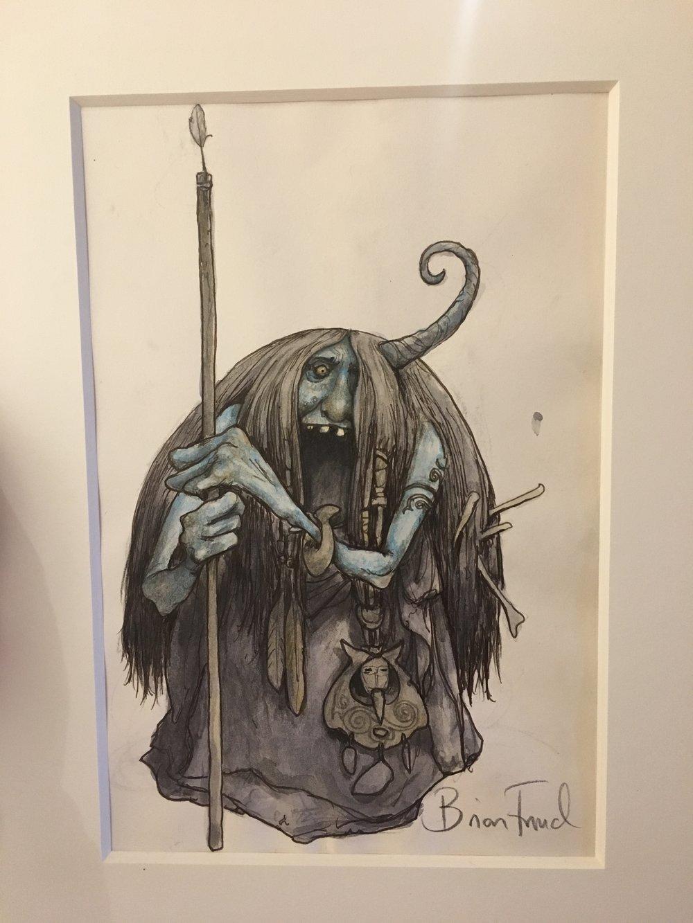 Blue Troll Witch