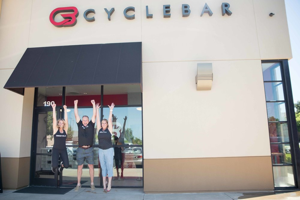 At Cyclebar Roseville's One Year Anniversary Party!