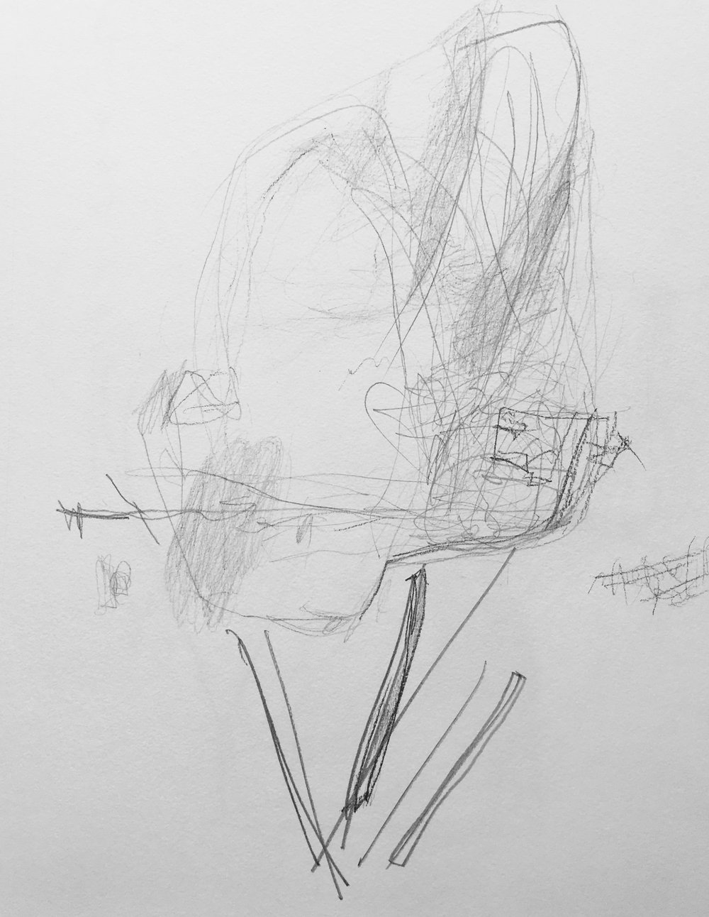 "Portrait of Bent Vinkler Graphite on Paper 9"" x 11"""