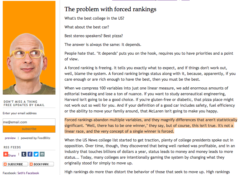 The problem... - With College Rankings
