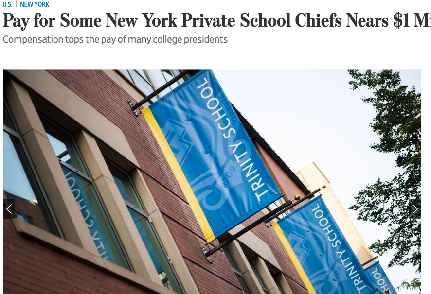 Highly Paid  - NYC private day school heads