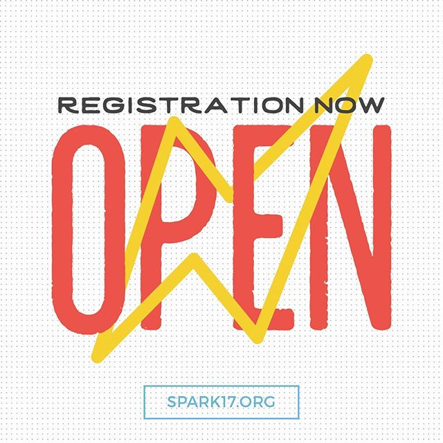 Take advantage of our lowest registration rate before it's too late! Only $79 per person when you sign up before 4/30. SPARK17.org