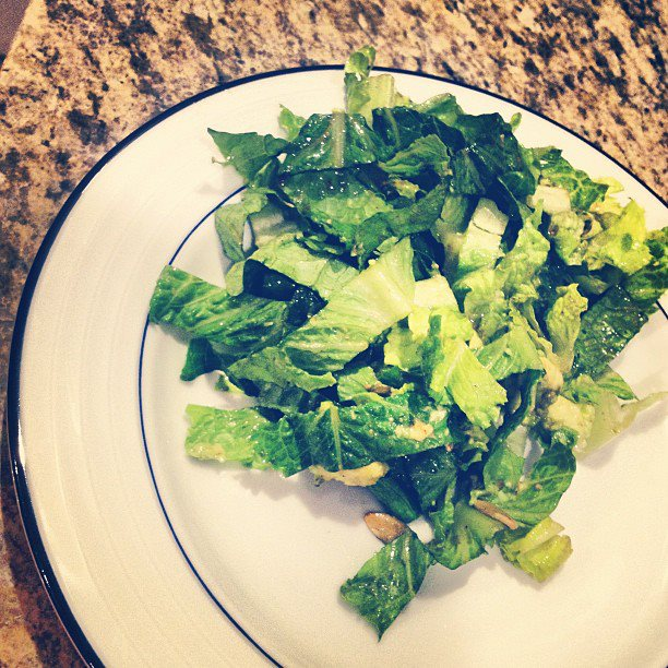 Simplest green salad