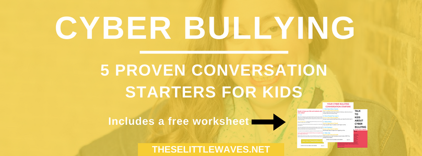 A really important thing that teachers and parents have to do is figure out how to talk to children about cyberbullying.  This topic is so layered and complicated, it can feel hard to know where to start. This is a list of five tools to use to spring board conversations about cyberbullying with kids. BONUS: There is a free printable list for parents and teachers to use. Sometimes it's nice to have a starting point to get the discussion going!