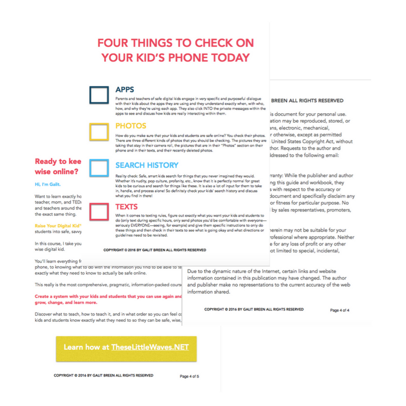How do I monitor my child's cell phone use is such a common question! There are four things that you should start checking on your child's cell phone starting yesterday. Learn exactly what they are. Also, print out the free checklist so that you can refer to it and make doing this as simple as possible!