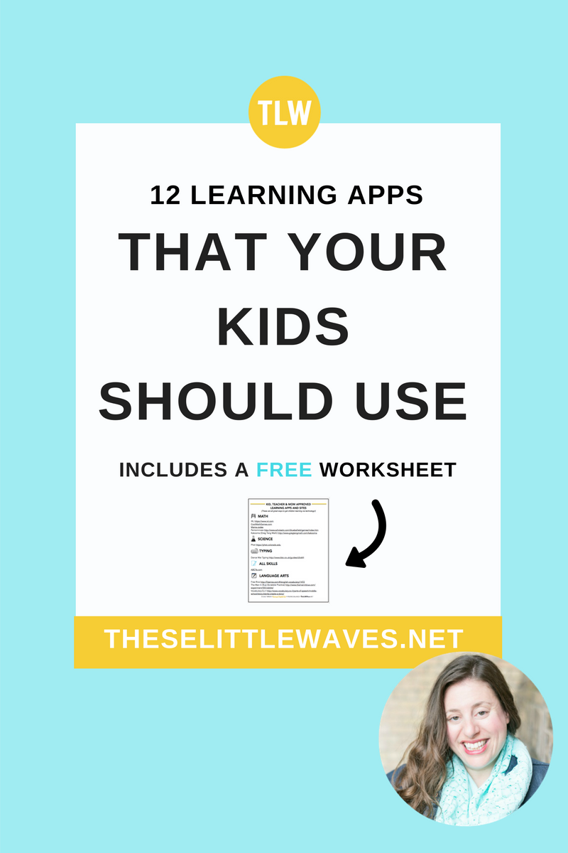 Learning apps that are fun for kids are important to have on hand. Check out this list of 12 learning apps that kids love and that are teacher and mom approved. Print the free checklist so that you have this list of apps for kids on hand for easy reference for you and for your kids!