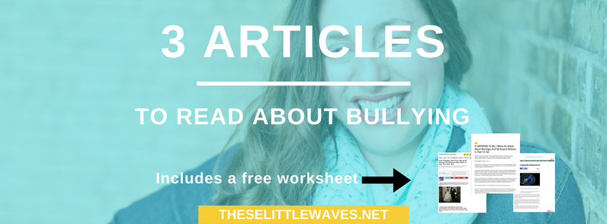 Articles to read about bullying are a great resource to use to both better understand the topic of bullying and to teach kids about bullying. Start  by reading these 3 articles about bullying. Plus print the free copies of them to refer to later.
