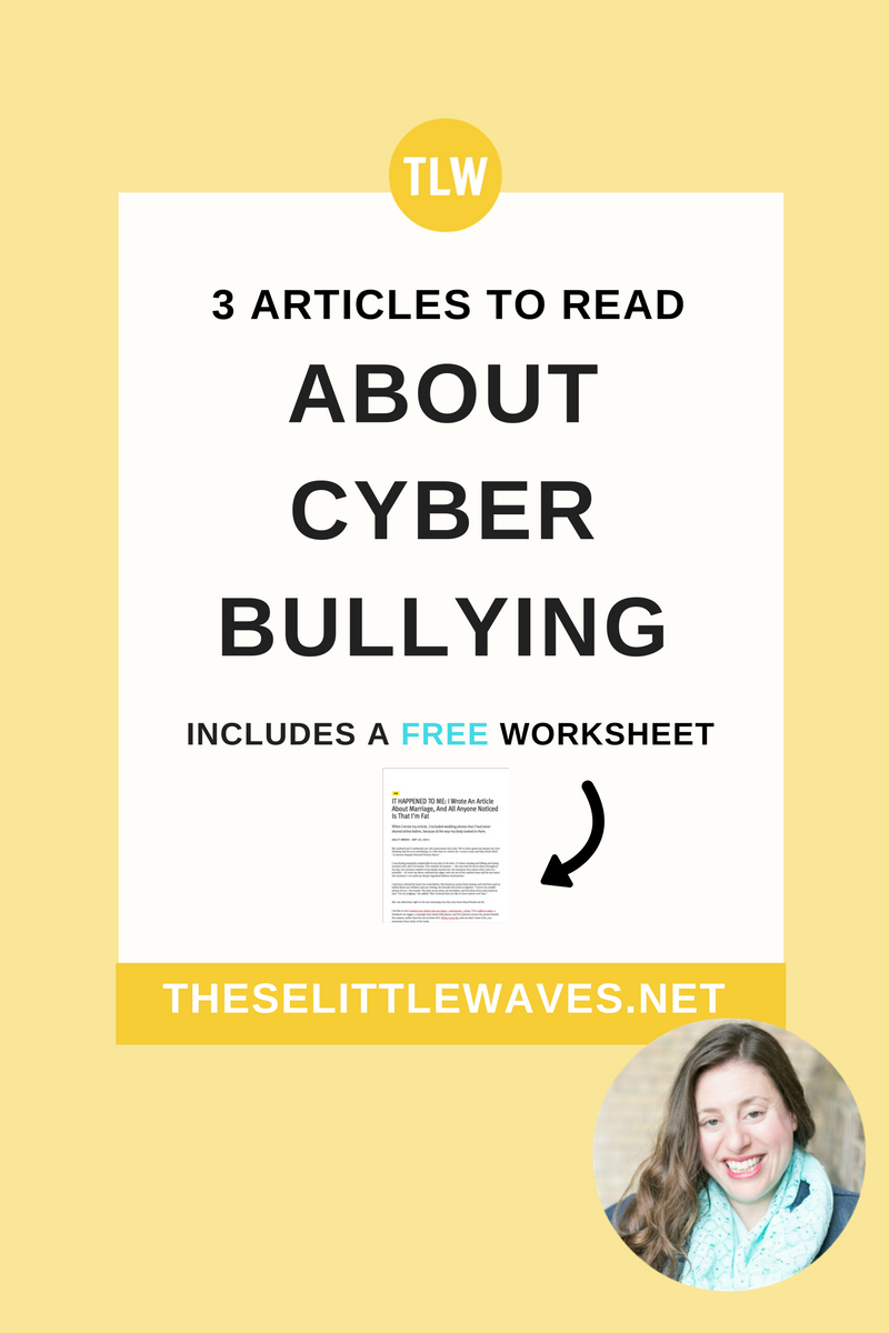 Articles about cyber bullying can be an important resource as a parent and as a teacher to both understand this topic and to teach kids about cyber bullying. Start by reading these three articles about cyber bullying. Then print out the free copies so that your kids can read them, too!