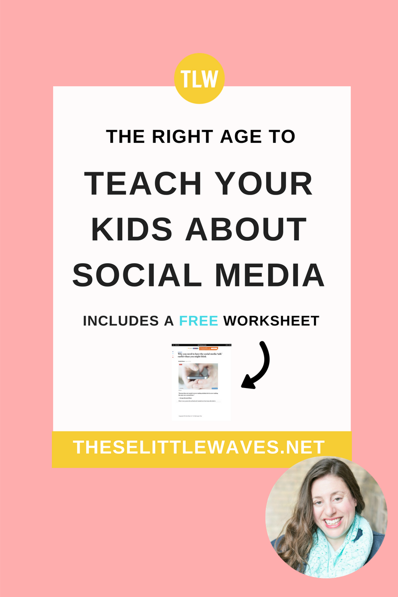 There are so many pros and cons to letting kids use social media. The biggest pro of at least talking about it at a young age is that your kids are still listening to you then! Read this interesting and thought provoking article about the pros of letting kids use social media at a young age. Also, print out the free copy of the article to share with kids. This will start a great conversation with kids about social media.