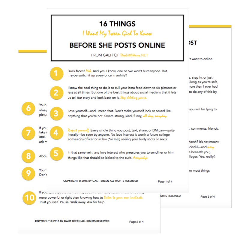 There are certain internet rules that kids just need to know. And these 16 are it. Take a look at these internet rules before you let your kids post another thing online. Then, print out the free checklist and give it to your kids. That's what I'm going to do!