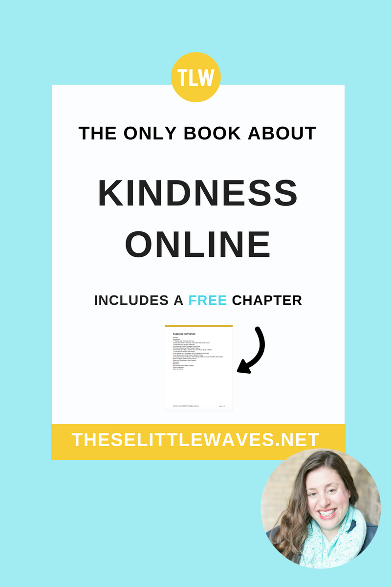 Kindness online starts with you. This book is the only one of its kind. It focuses on what really matters—how to use your kindness, values, and morals online. Every parent and teacher of kids who are online needs to read this book. Start by reading it, then print out the free chapter and have your kids read it, too. Kindness Wins when we take action. Start here.