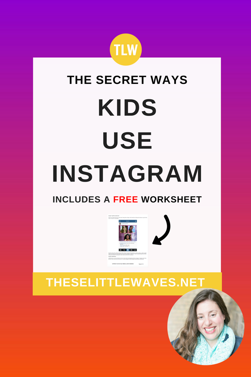 Is Instagram ok for kids // It is so tempting to ask if kids should be on Instagram, but the fact is that many kids are on Instagram so what we really need to ask is how are kids using Instagram and how can we help. This is a really detailed cheat sheet of how kids use Instagram. It's really helpful to see this laid out so clearly!