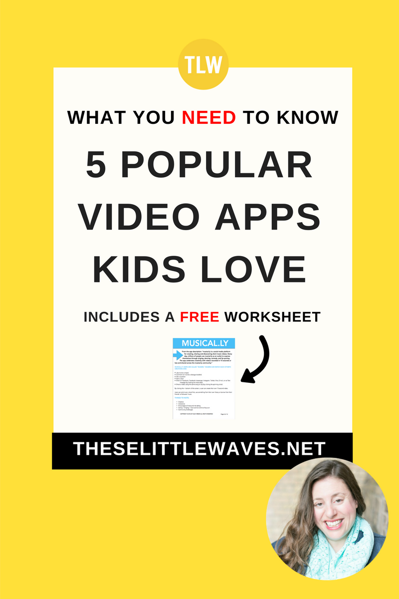 Popular video apps for kids // Kids are absolutely using video on the internet and we need to know about it! This is a really detailed cheat sheet about five popular video apps kids use: musical.ly, dubsmash, vine, periscope, and video for instagram. Video apps for kids are actually a lot of fun and can be educational when they are used the right way. This detailed cheatsheet is so helpful to know what kids are doing and how to help them be safe while they are using video apps so they can enjoy them and learn from them. This is super helpful and important!