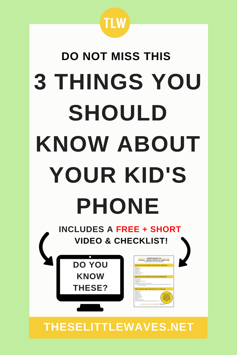 Kids on phones // There are 3 things that you should know about your kids phone use. Most parents miss these, don't be one of them. This free resource will help!