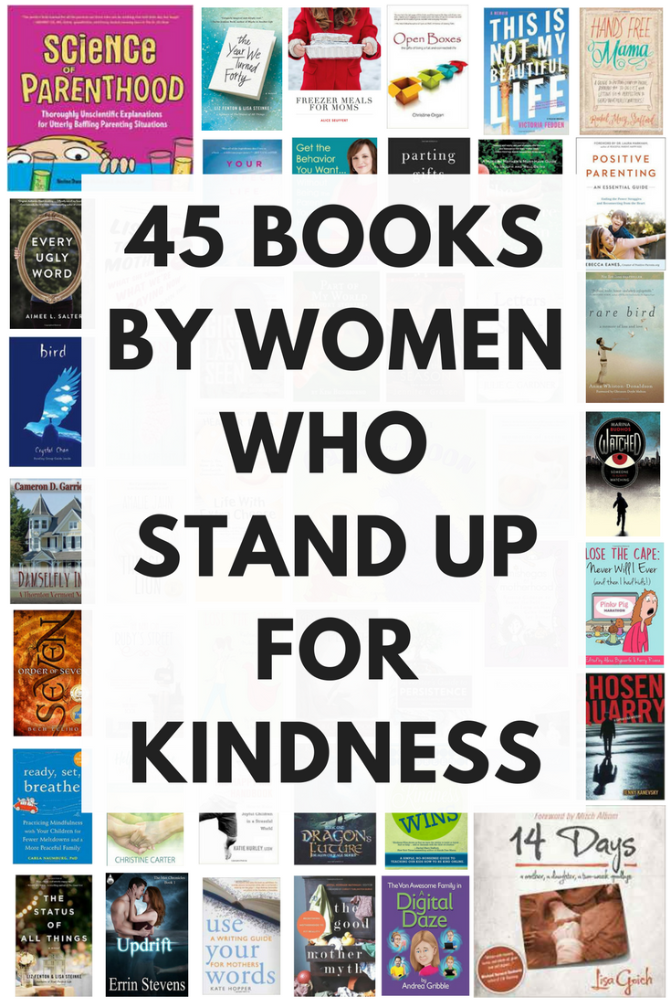 Finding new women authors to read is a goldmine of inspiration and goodness. This list of books by women does not disappoint--each of these women is anti bullying and pro teaching kindness to kids. Click through to get a free checklist of them ALL!