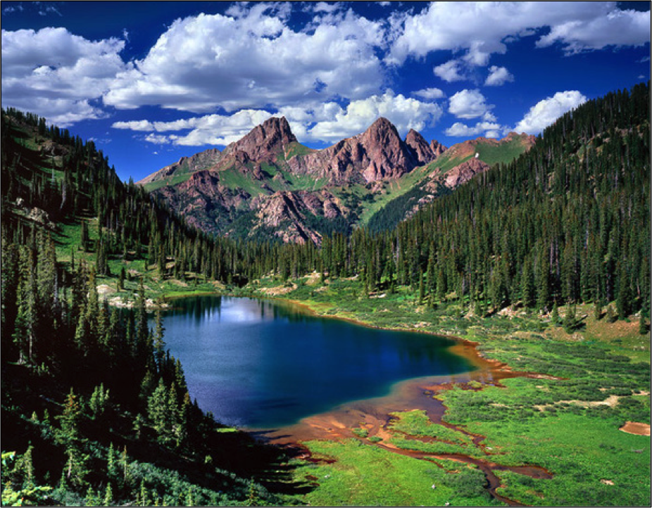 Emerald Lake in the Weminuche Wilderness