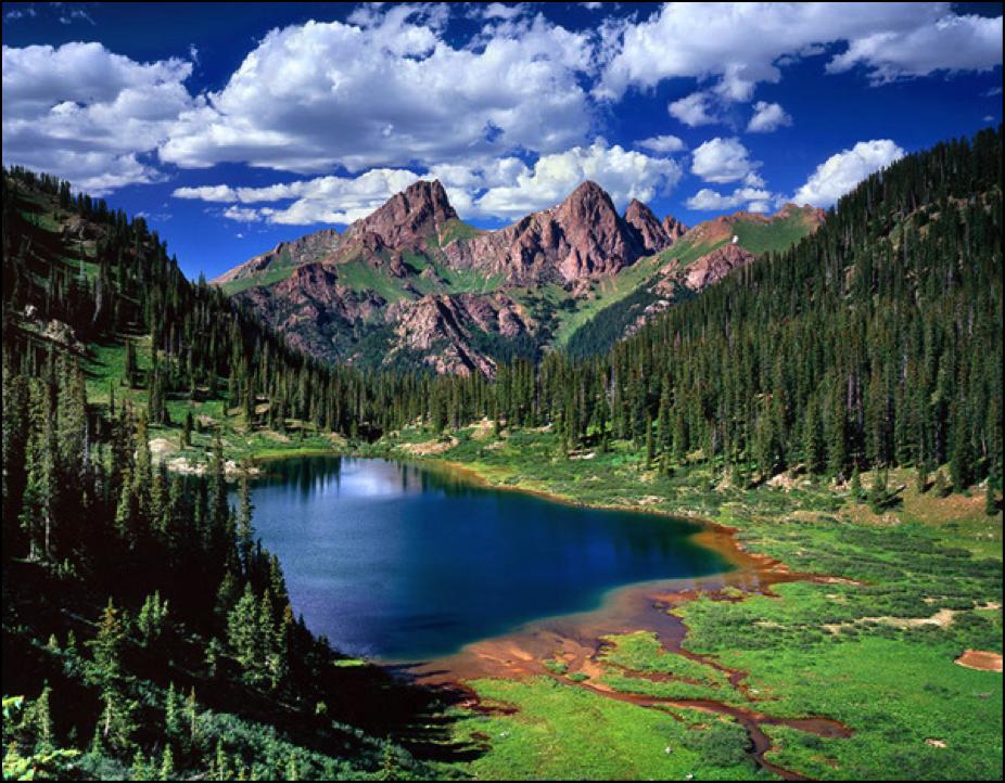 Emerald Lake in the Weminuche Wilderness