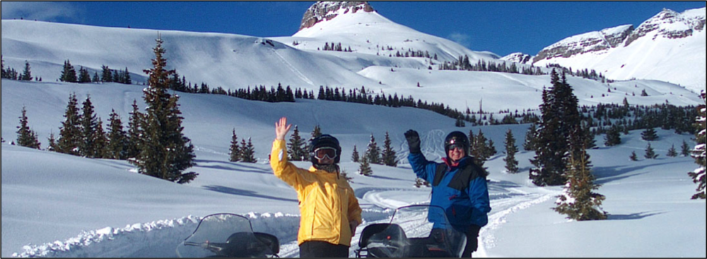 Unlimited terrain awaits the avid snowmobiler at Molas Pass.