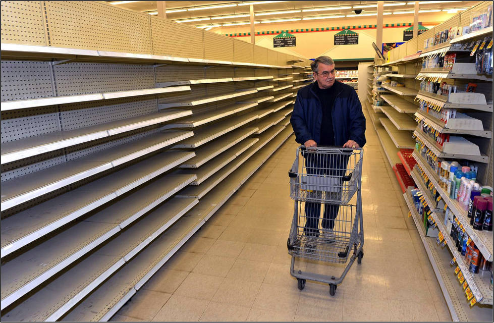 What will you do when the grocery store shelves are empty?
