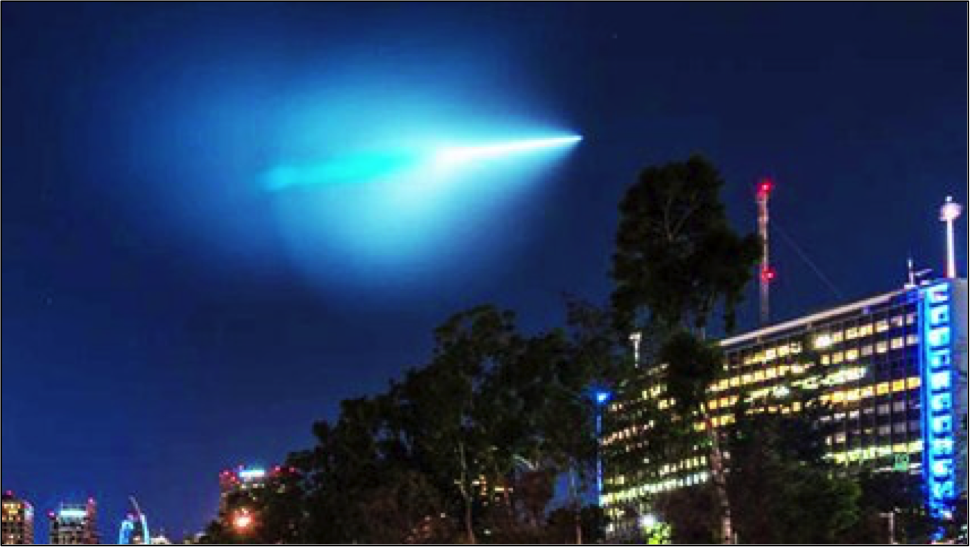 Trident II Missile Launch Over San Francisco