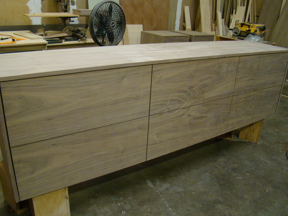 Unfinished Walnut File Credenza