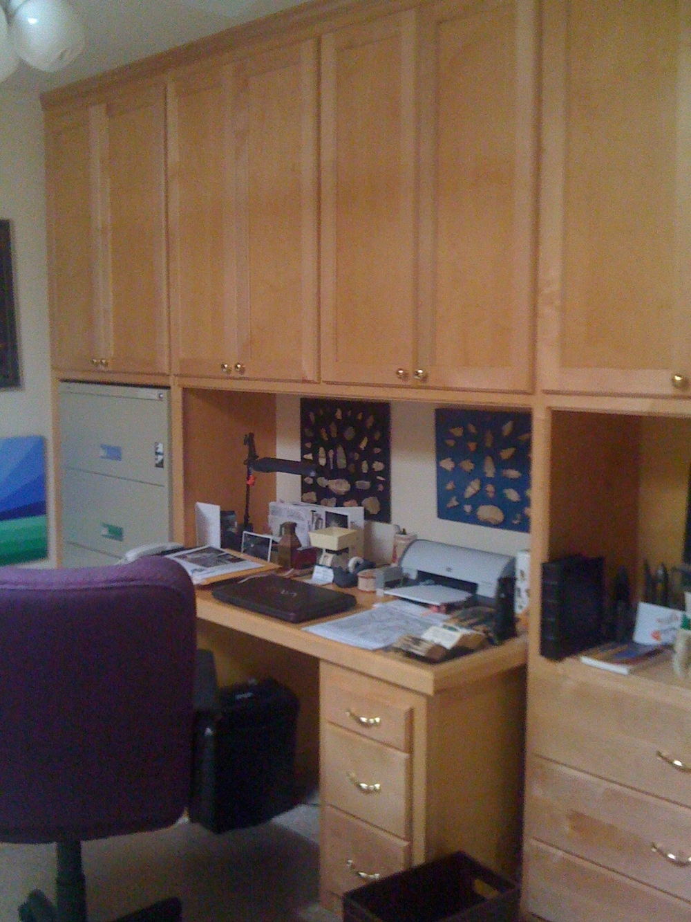 Shaker Home Office, Clear Coated Maple