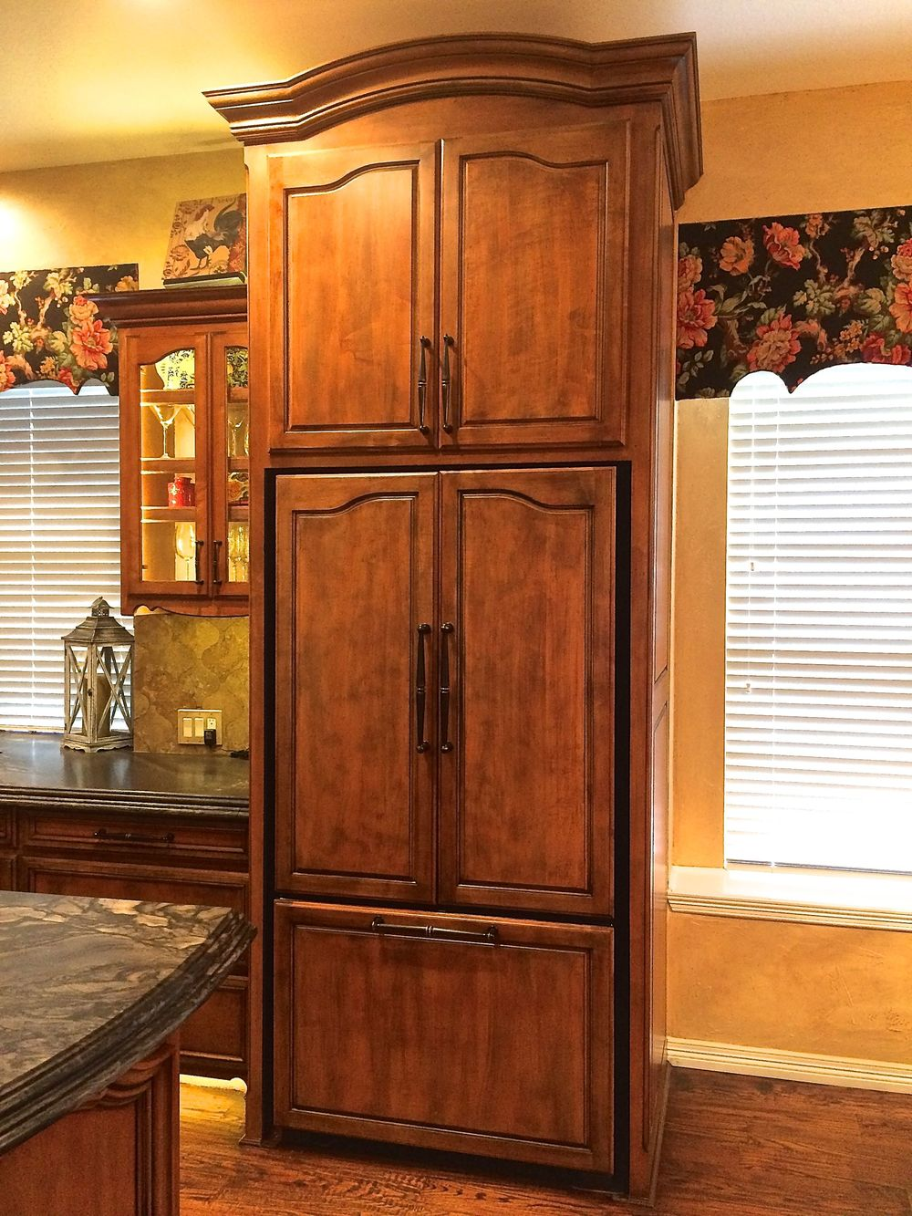 Paneled Refrigerator with Storage