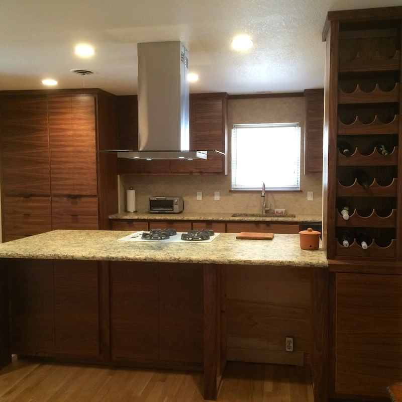 Matched Grain Walnut Kitchen