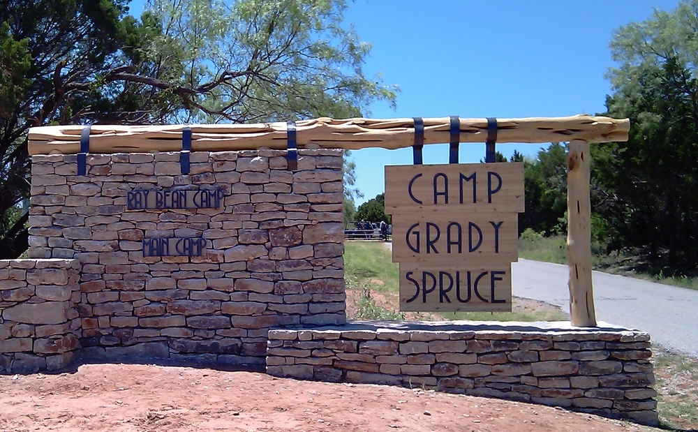 Camp Grady Spruce Signage