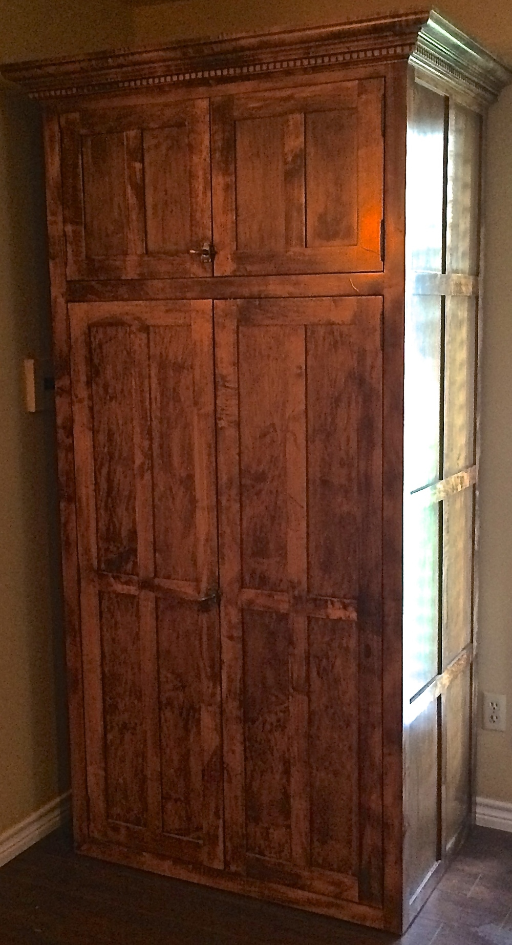 Maple Armoire/gun safe cabinet