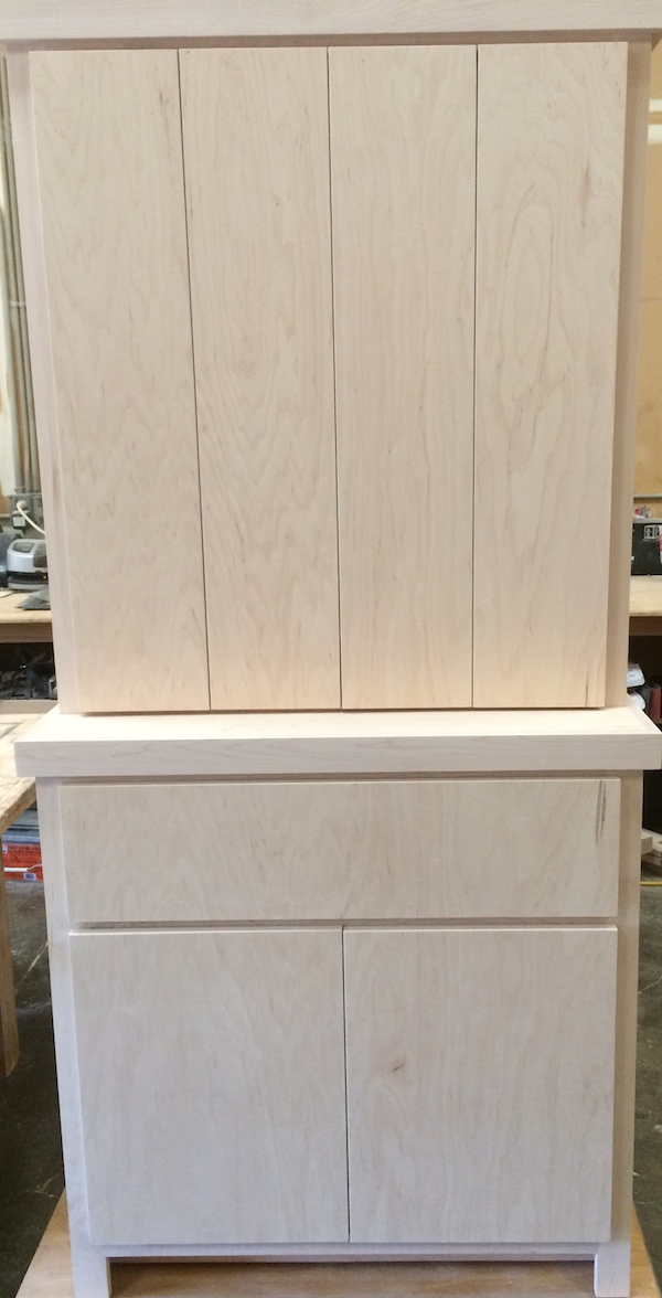Maple Bi-fold Door Equipment Cabinet