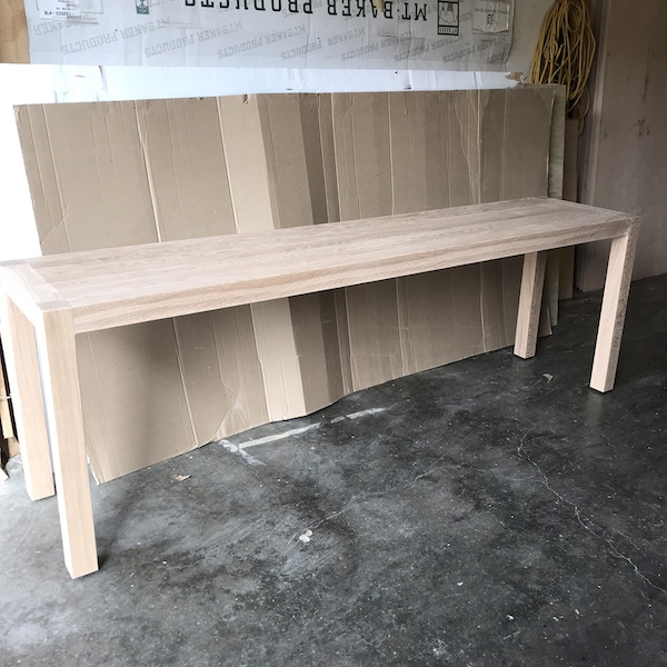 Parsons White Oak Sofa Table