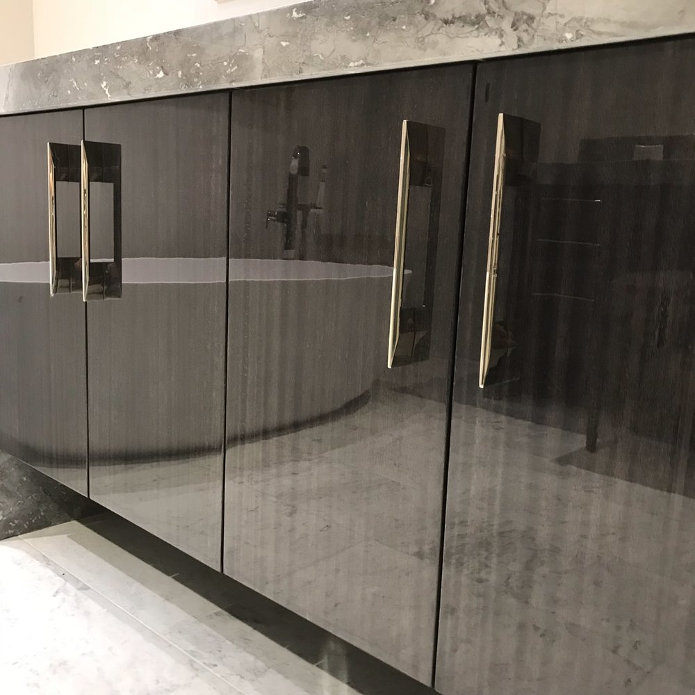 Contemporary Vanity With Piano Finish