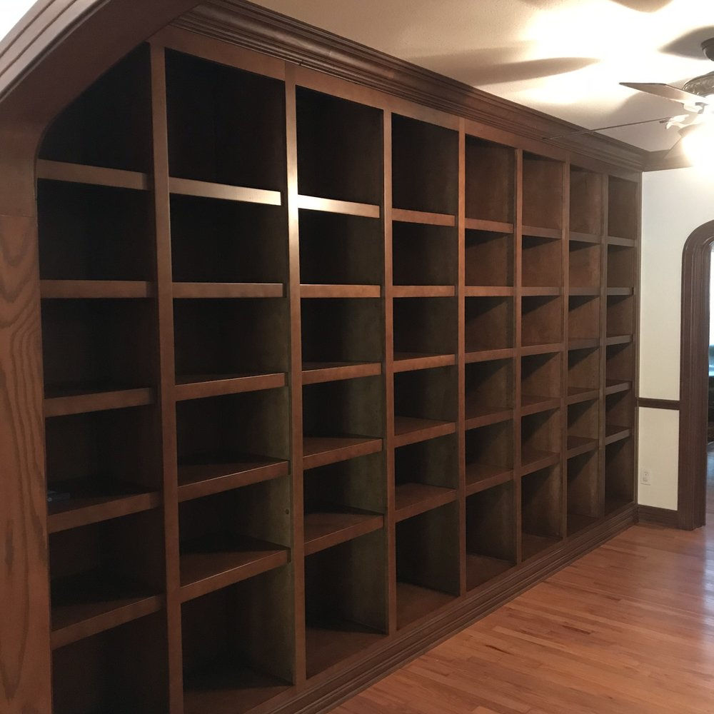 Traditional Stained Maple Bookcase