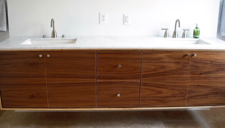Walnut Floating Vanity