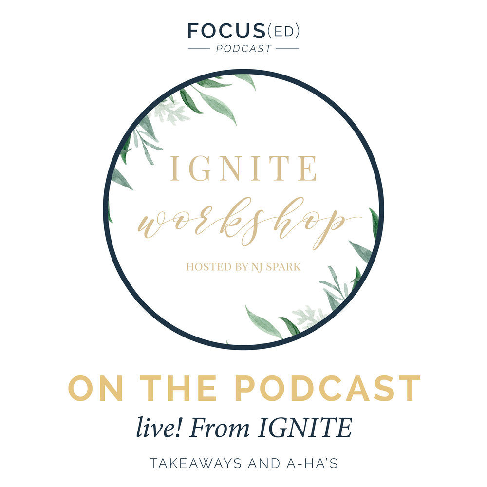 focused podcast: live from Ignite workshop hosted by NJ Spark
