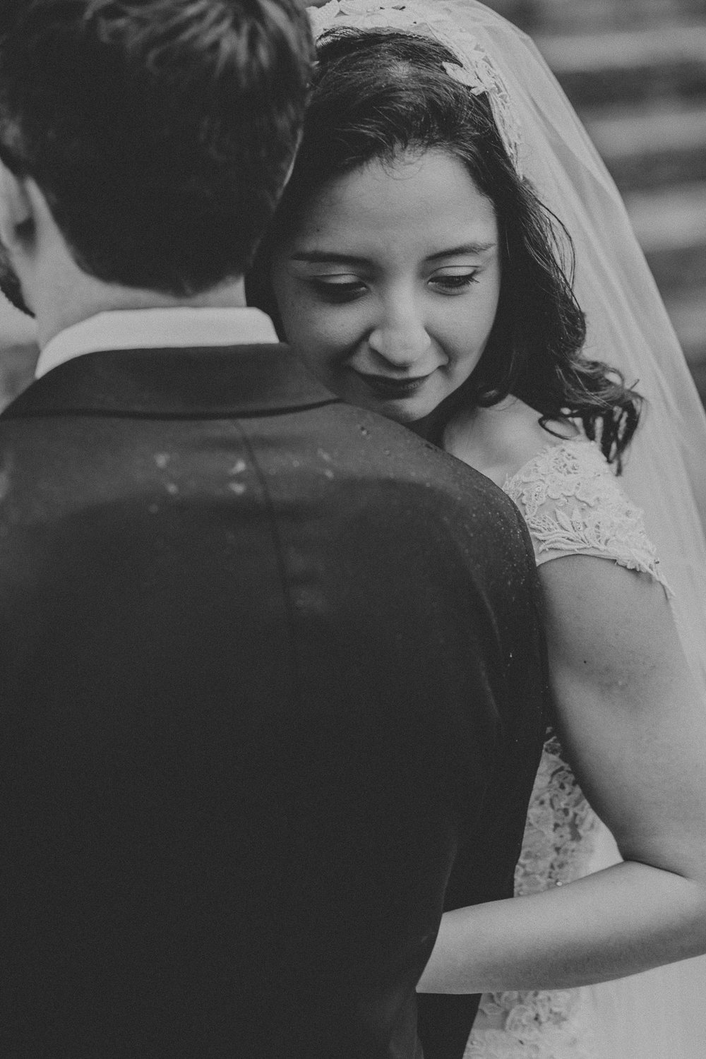 How I got the Shot - black and white photo of bride and groom