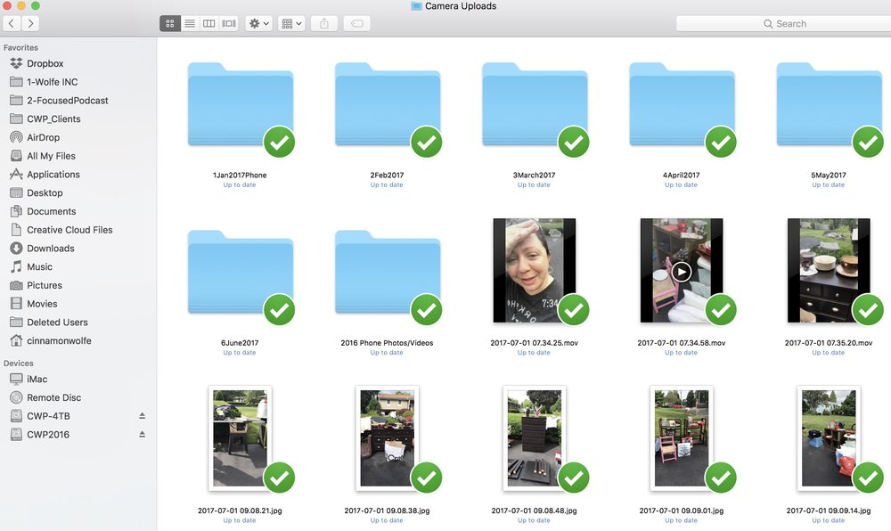 syncing your phone photos into dropbox | How to keep your photos organized