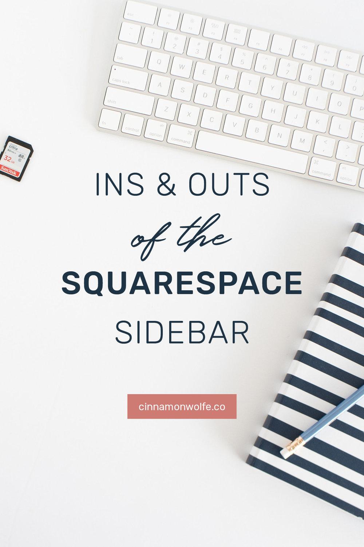 Squarespace blog sidebar
