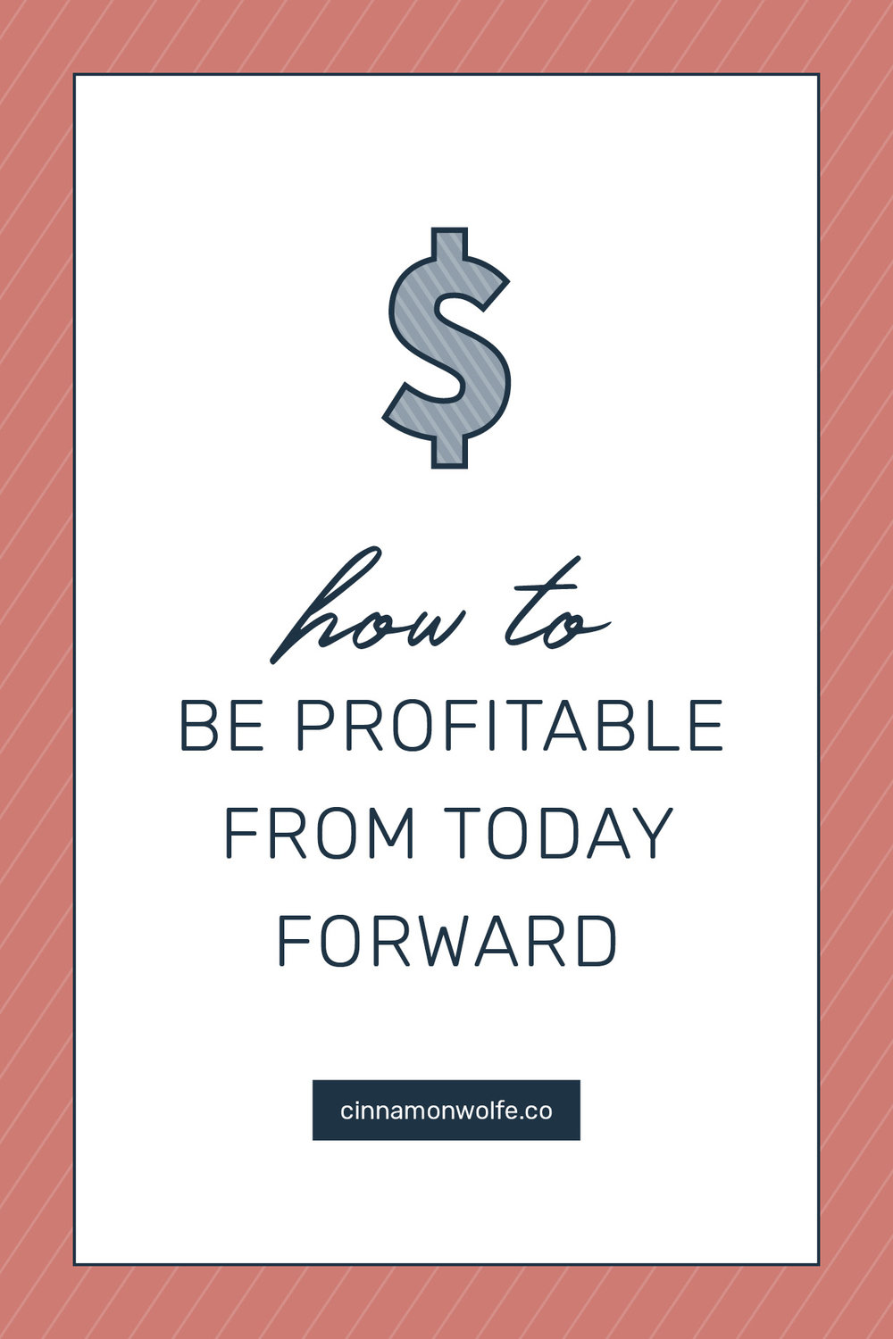 """Profitability"" is not a word that gets a lot of love in the creative or photography world.   