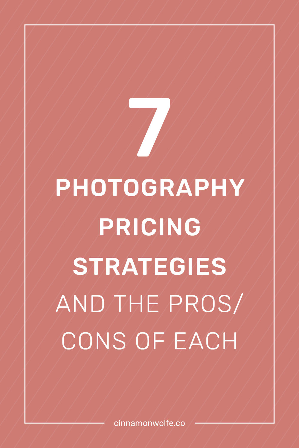 7 photography pricing strategies & the pros/cons of each     Cinnamonwolfe.co